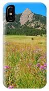 The Flatirons Colorado IPhone Case