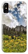 Flowers And Mountains And Sky...oh My IPhone Case