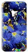 Flowers Blue IPhone Case