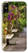 Flowers By A Bench  IPhone Case