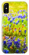 Flowers Field Background IPhone Case