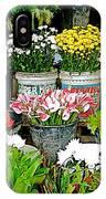 Flowers For Sale In Marketplace In Tachilek-burma IPhone Case