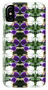 Flowers From Cherryhill Nj America White  Purple Combination Graphically Enhanced Innovative Pattern IPhone Case