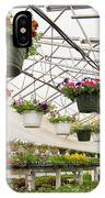 Flowers Growing In Foil Hothouse Of Garden Center IPhone Case