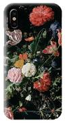 Flowers In A Glass Vase, Circa 1660 IPhone Case