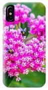 Flowers In A Purple Heart IPhone Case