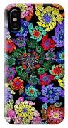 Flowers In A Spiral IPhone Case