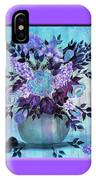 Flowers In A Vase With Lilac Border IPhone Case
