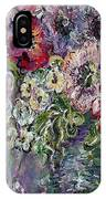 Flowers In An Antique Blue Vase IPhone Case