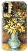 Flowers In Blue Vase - Still Life Oil IPhone Case
