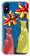 Flowers In Glass Vases IPhone Case