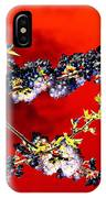 Flowers In Red IPhone Case