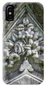 Flowers On A Grave Stone IPhone Case