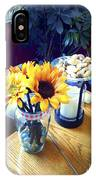 Flowers On Table IPhone Case