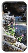 Flowers On The Rock IPhone Case