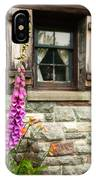 Flowers Stone And Old Country Window IPhone Case