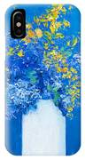 Flowers With Blue Background IPhone Case