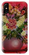 Flowers With Red Background IPhone Case