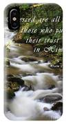 Flowing Creek With Scripture IPhone Case