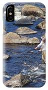 Fly Fishing On Mountain River IPhone Case
