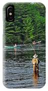 Fly Fishing West Penobscot River Maine IPhone Case