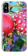 Fly-fungus With Blue Leaves By M.l.d.moerings 2009 IPhone Case