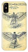 Flying Machine Patent Drawing-vintage IPhone Case