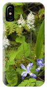 Foamflower And Crested Dwarf Iris - D008428 IPhone Case