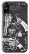 Foehl Revolver Patent Drawing From 1894 - Dark IPhone Case