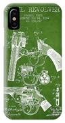 Foehl Revolver Patent Drawing From 1894 - Green IPhone Case
