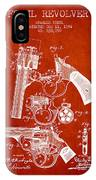 Foehl Revolver Patent Drawing From 1894 - Red IPhone Case