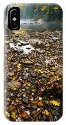 Fog And Fall Color Williams River IPhone Case