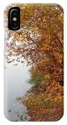 Foggy Autumn Riverbank IPhone Case