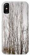 Foggy Winter Tree Fence 13271 IPhone Case