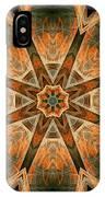 Folded 8-pointed Kaleidoscope Image IPhone Case
