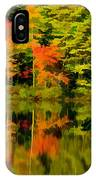 Foliage In New Hampshire IPhone Case