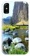 Footbridge At Smith Rock IPhone Case