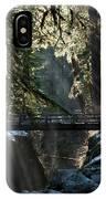 Footbridge Near Sol Duc Falls, Olympic IPhone Case