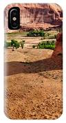 Footprints In The Sand  Canyon Dechelly IPhone Case