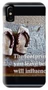 Footprints Left Behind IPhone Case