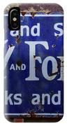 Ford And Fordson Sign IPhone Case
