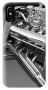 Ford Coupe Hot Rod Engine In Black And White IPhone Case