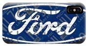 Ford Motor Company Retro Logo License Plate Art IPhone Case