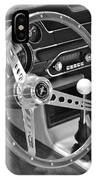 Ford Mustang Shelby In Black And White IPhone Case