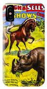 Forepaugh And Sells Wondrous Wild Beasts IPhone Case