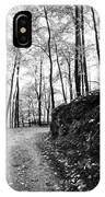 Forest Black And White 6 IPhone Case
