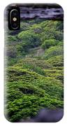 Forest Canopy Through The Window Of The Ruins IPhone Case