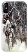 forest decoration - A pine tree give us a natural autumn decoration  IPhone Case