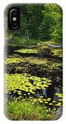 Forest Lake With Lily Pads IPhone Case