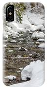 Winter Forest River IPhone Case